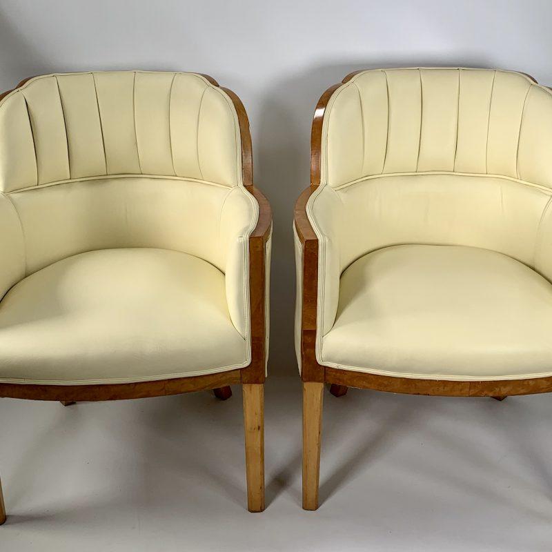 Pair of Art Deco Epstein Banker Salon Chairs