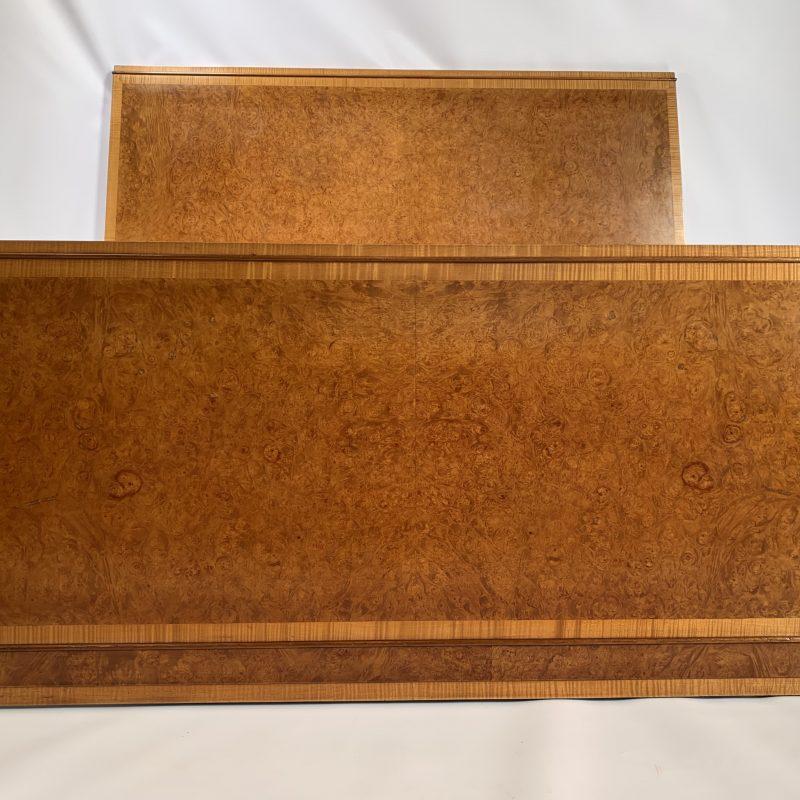 A fine Art Deco Head & Foot Board