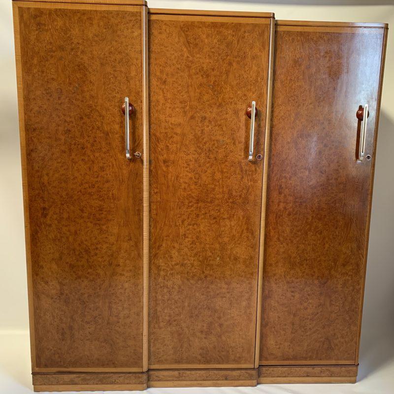 A fine Art Deco Wardrobe