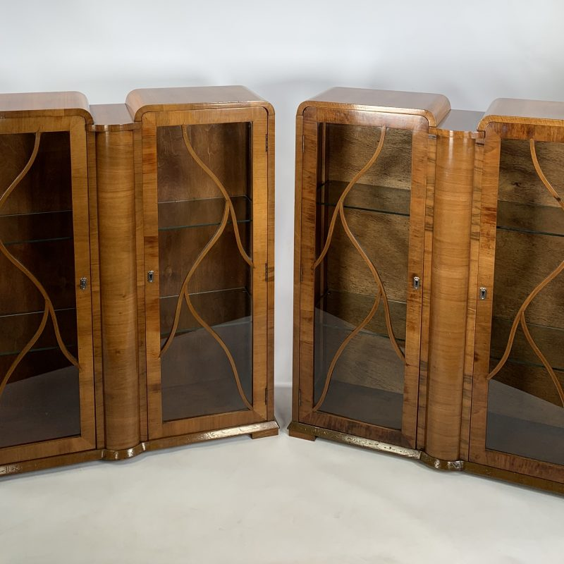 A Pair of Art Deco Display Cabinets