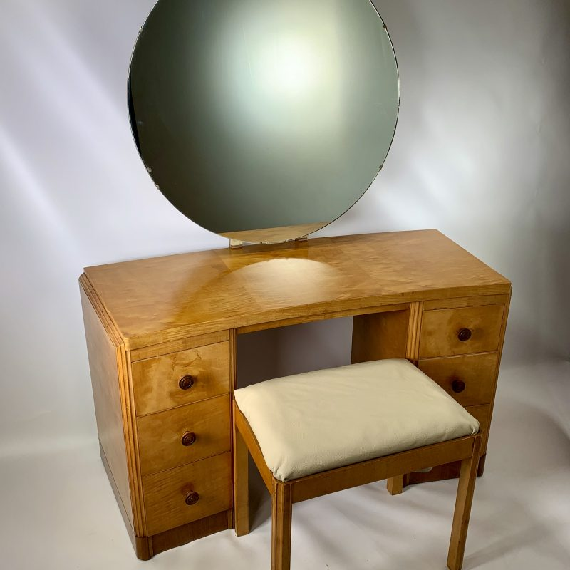 Art Deco Dressing Table and Stool by Heal's