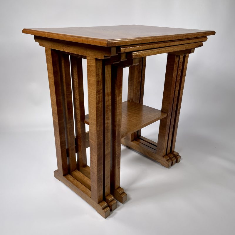A Heal's Nest of Three Art Deco Tables
