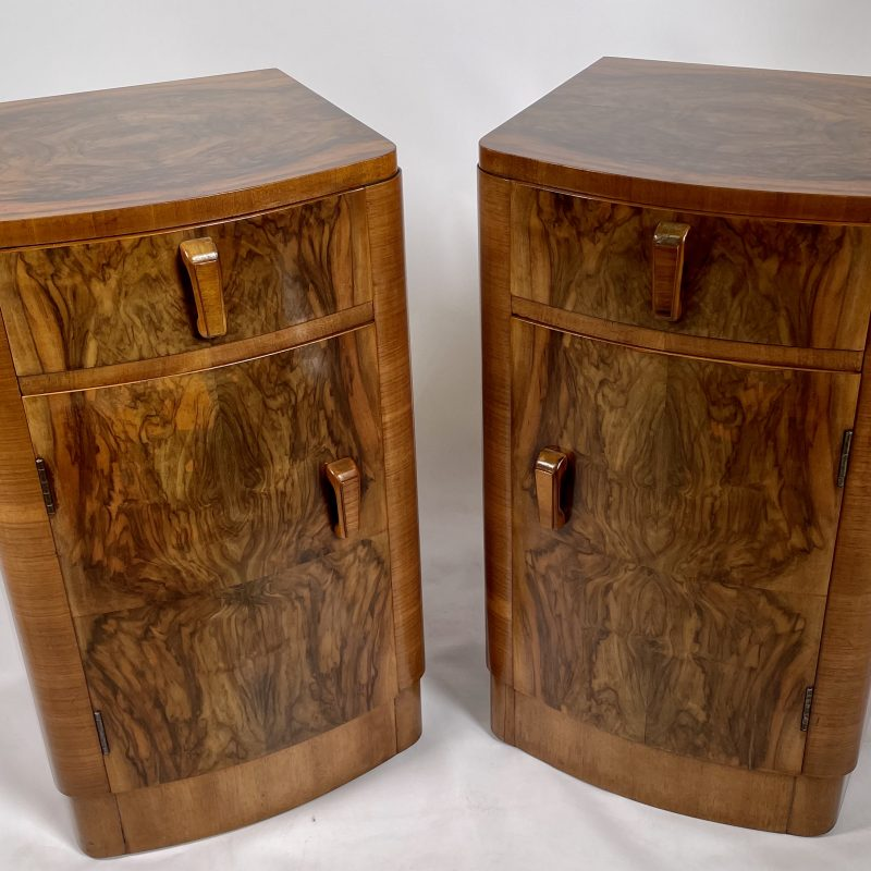 A Pair of Art Deco Bedside Cabinets