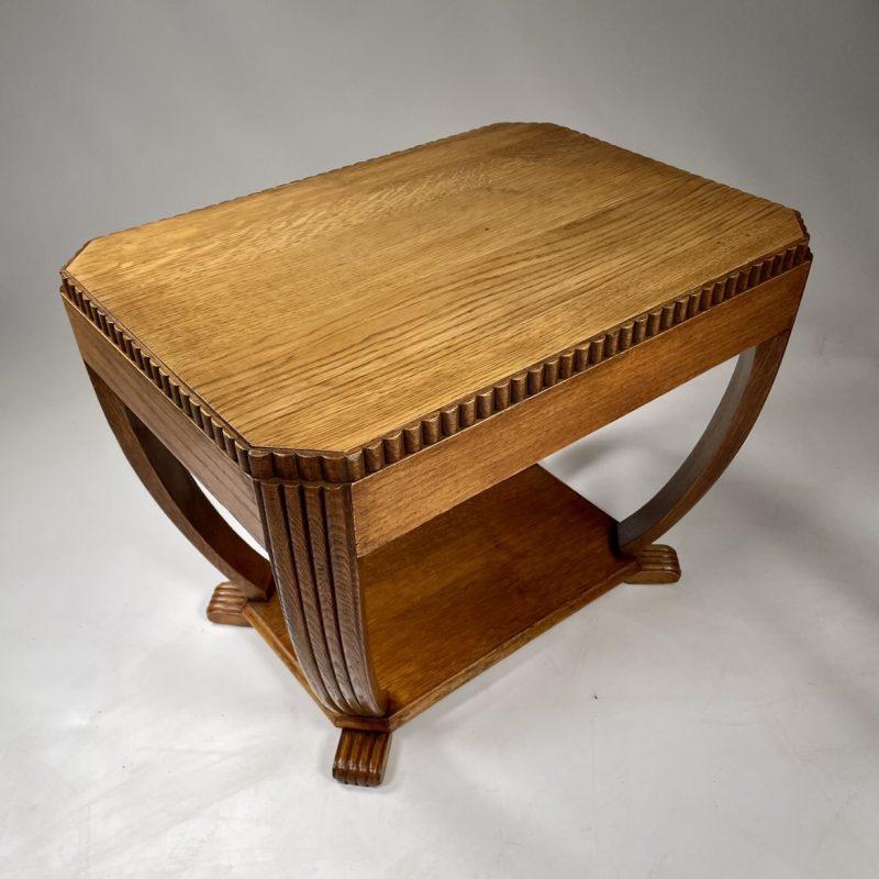 Art Deco Oak Low Coffee Table