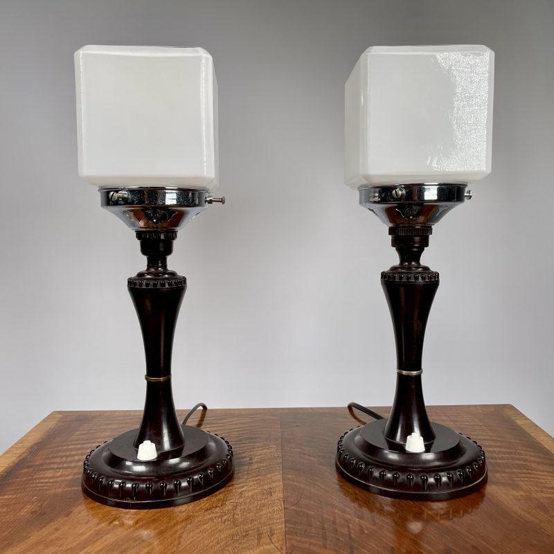 A Pair of Art Deco Lamps