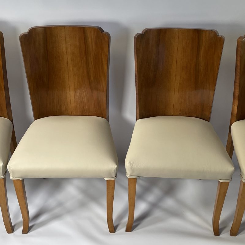 A set of four Art Deco Epstein Dining Chairs