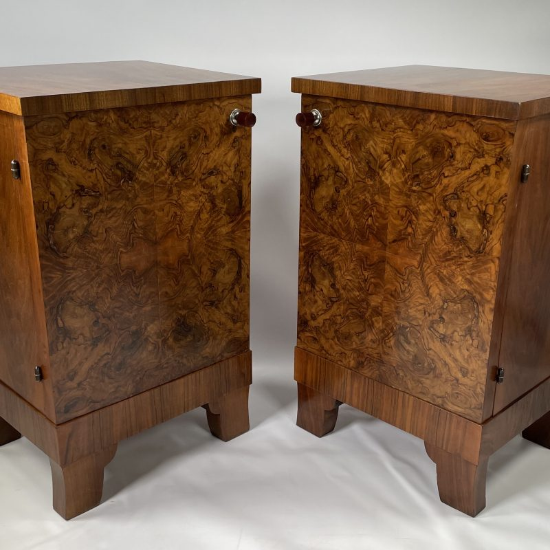 A Pair of French Art Deco Bedside Cabinets