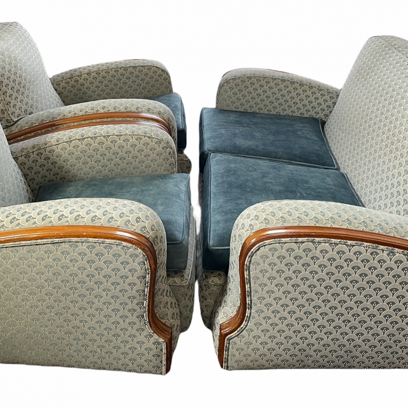 Sofa and Pair of Armchairs