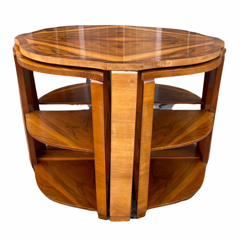 Art Deco Nest of Five Tables