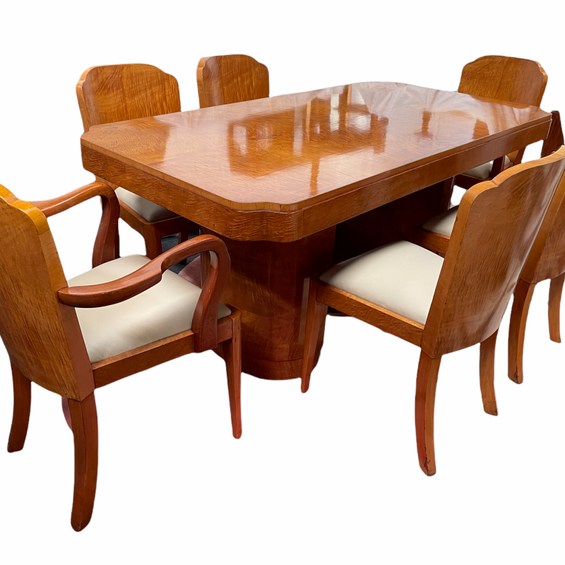 Epstein Art Deco Dining Table and Chairs