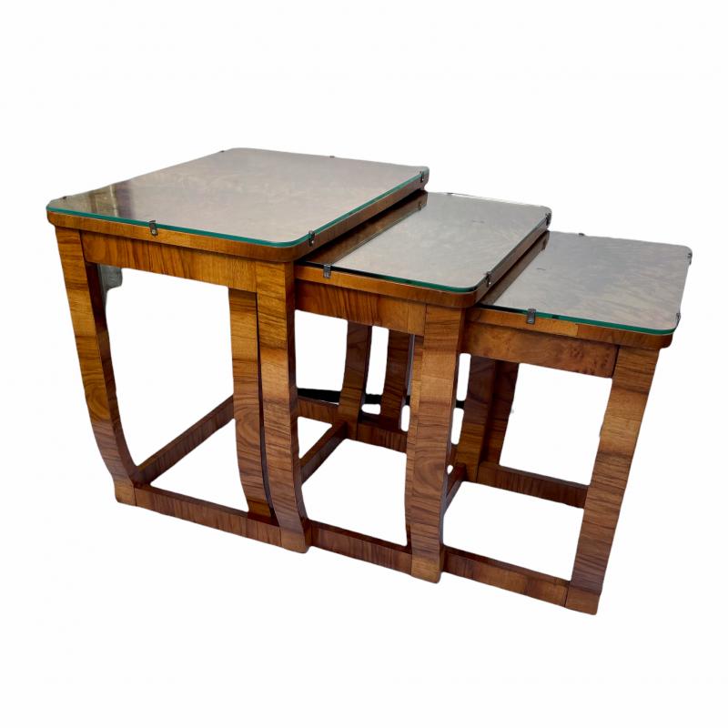 Art Deco Nest of Three Tables