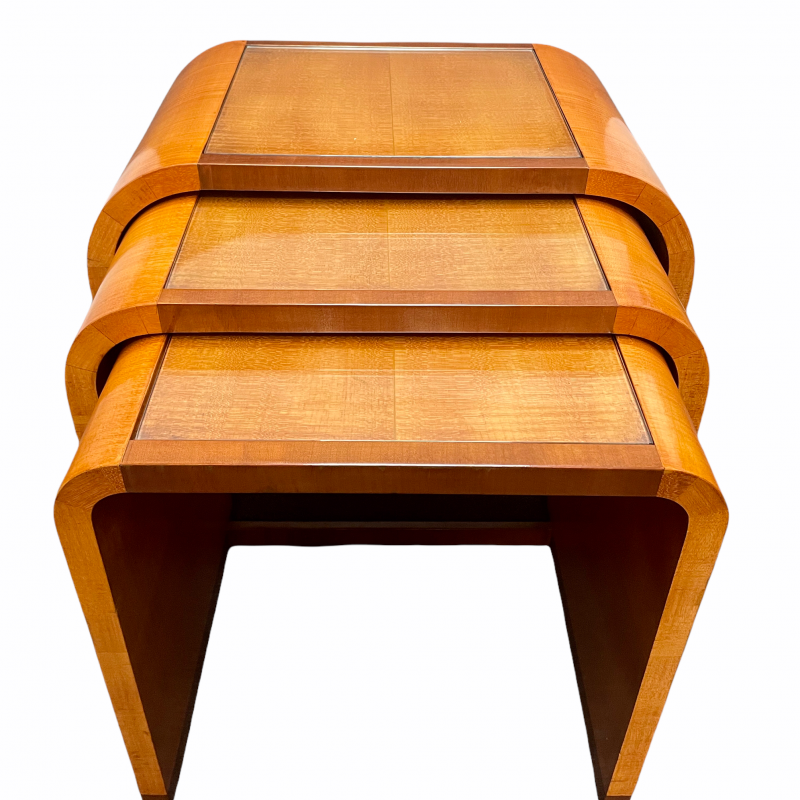 Nest of Three Art Deco Tables by Hille
